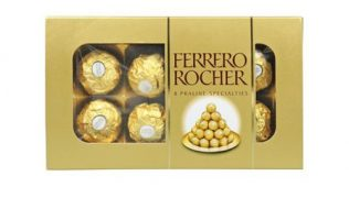 chocolate ferrero rocher pack 8 venta